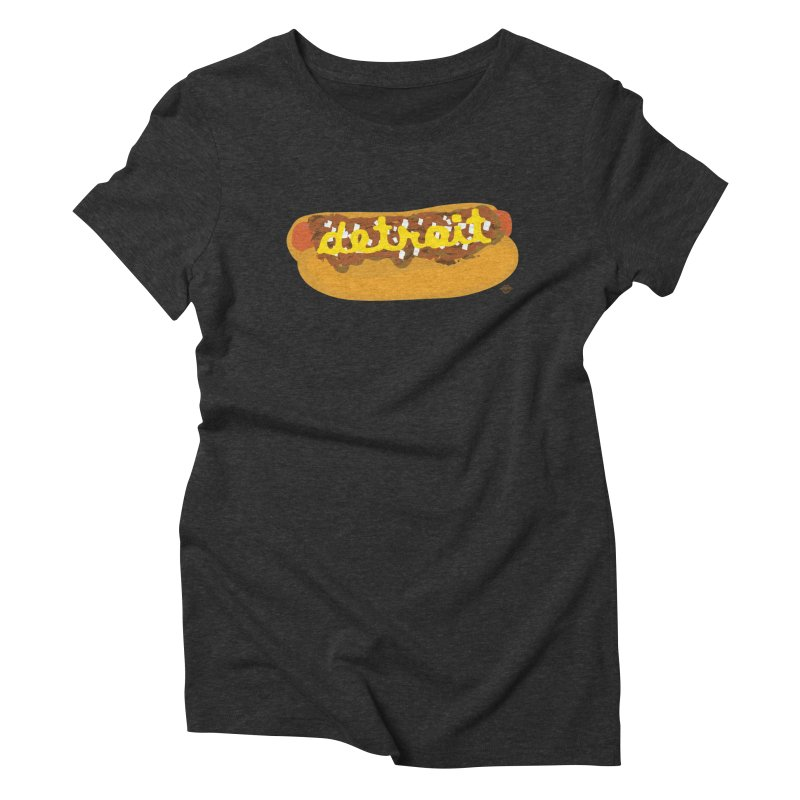 Detroit Coney Dog Women's Triblend T-Shirt by R E B E C C A  G O L D B E R G