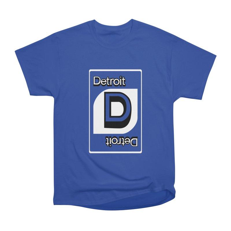 Detroit Uno Women's Heavyweight Unisex T-Shirt by R E B E C C A  G O L D B E R G
