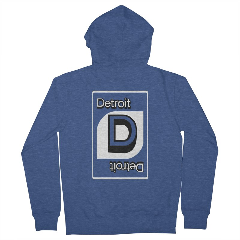 Detroit Uno Men's French Terry Zip-Up Hoody by R E B E C C A  G O L D B E R G