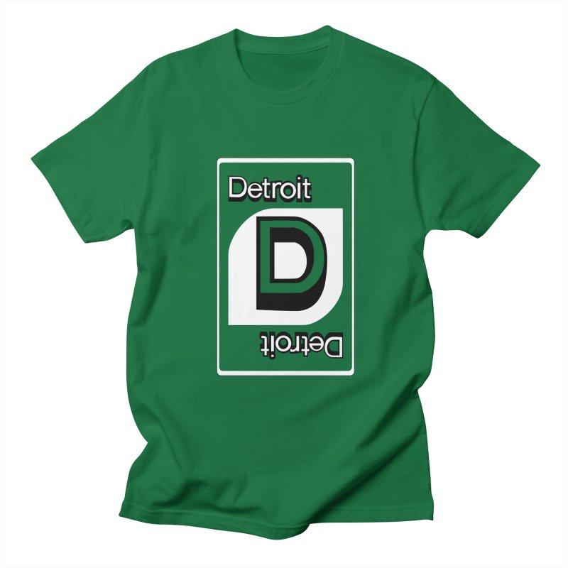 Detroit Uno Men's T-Shirt by R E B E C C A  G O L D B E R G