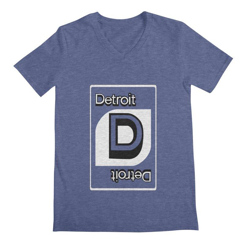 Detroit Uno Men's Regular V-Neck by R E B E C C A  G O L D B E R G