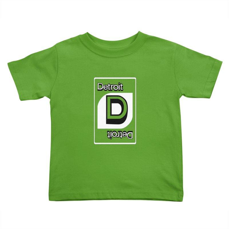 Detroit Uno Kids Toddler T-Shirt by R E B E C C A  G O L D B E R G