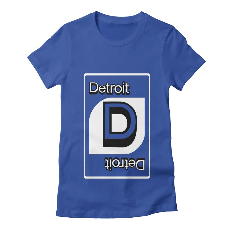 Detroit Uno Women's Fitted T-Shirt by R E B E C C A  G O L D B E R G