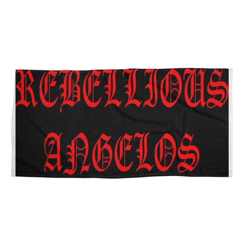 REBELLIOUS ANGELOS Accessories Beach Towel by rebelliousangels's Artist Shop
