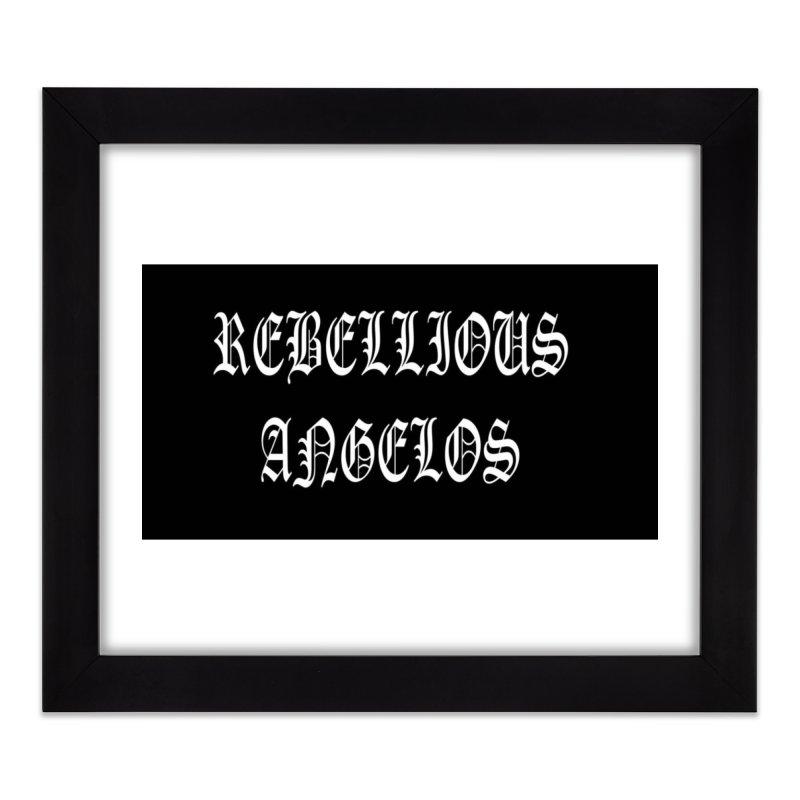 REBELLIOUS ANGELOS Home Framed Fine Art Print by rebelliousangels's Artist Shop