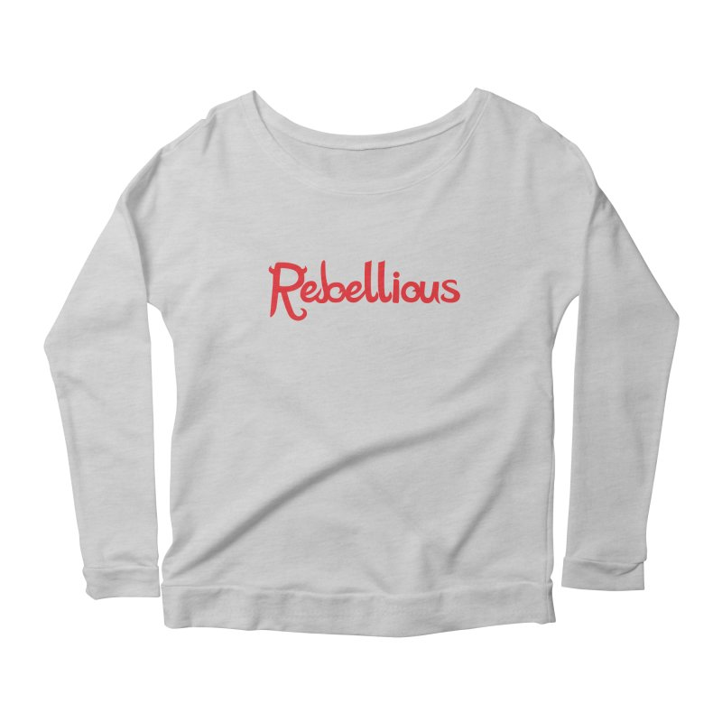 Rebellious Red Women's Longsleeve Scoopneck  by Rebellious Magazine