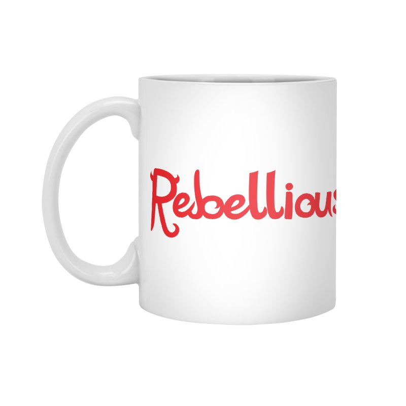 Rebellious Red Accessories Mug by Rebellious Magazine