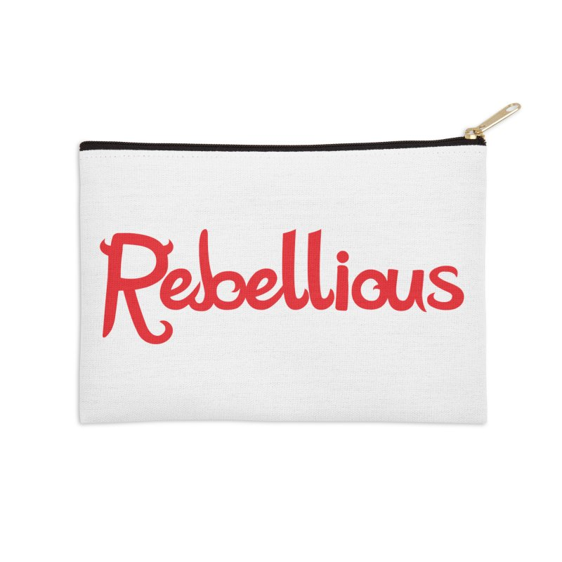 Rebellious Red Accessories Zip Pouch by Rebellious Magazine
