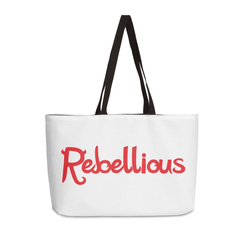 Rebellious Red Accessories Weekender Bag Bag by Rebellious Magazine