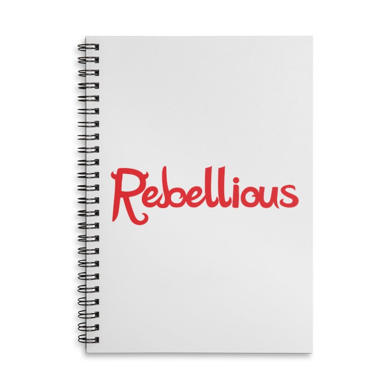 Rebellious Red Accessories Lined Spiral Notebook by Rebellious Magazine