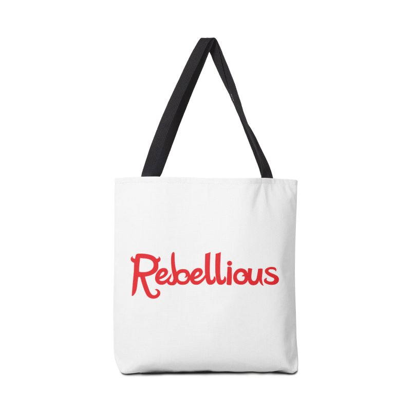 Rebellious Red Accessories Tote Bag Bag by Rebellious Magazine