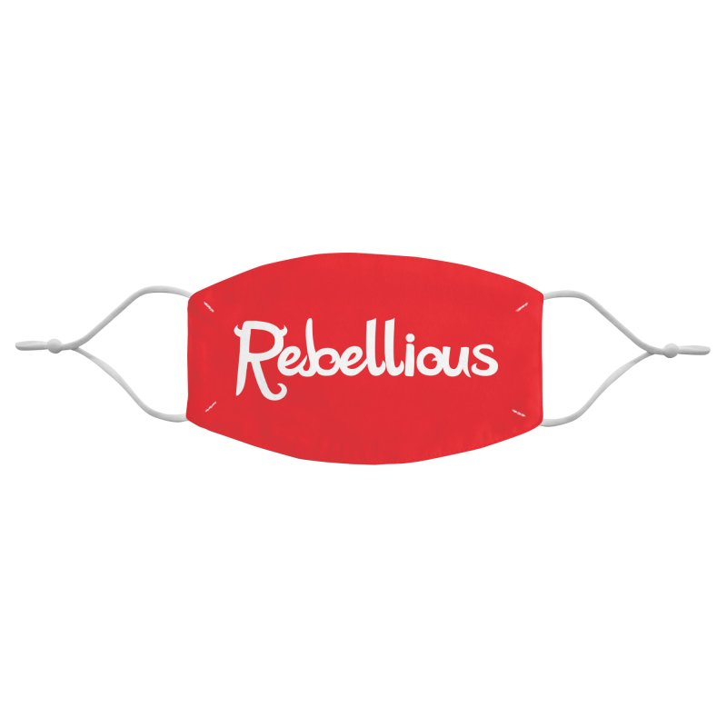 ____ & White Accessories Face Mask by Rebellious Magazine