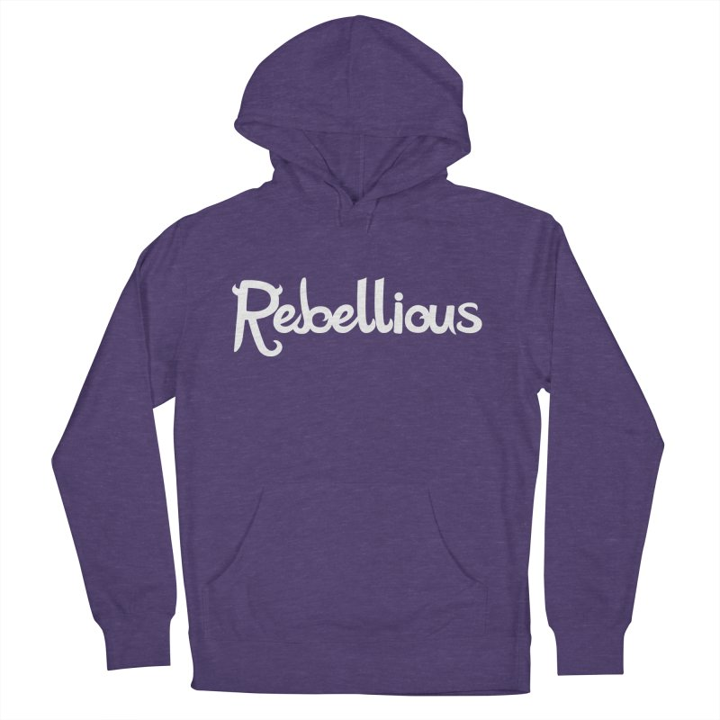 ____ & White Women's French Terry Pullover Hoody by Rebellious Magazine
