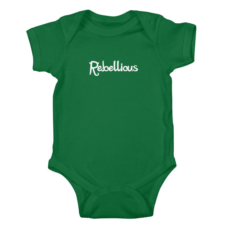 ____ & White Kids Baby Bodysuit by Rebellious Magazine
