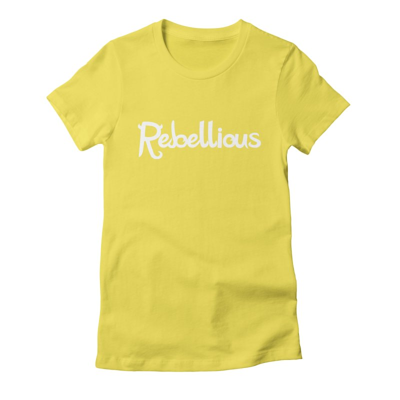 ____ & White Women's Fitted T-Shirt by Rebellious Magazine