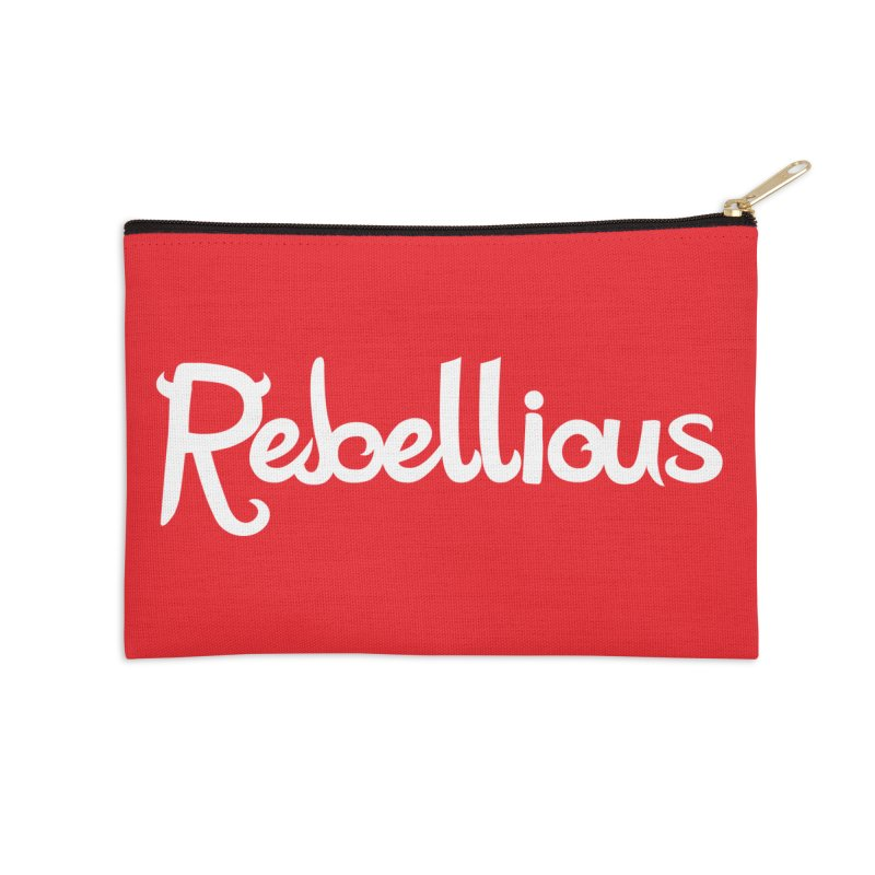 ____ & White Accessories Zip Pouch by Rebellious Magazine