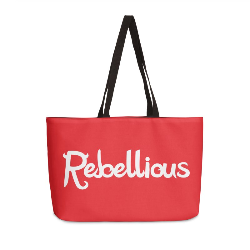 ____ & White Accessories Weekender Bag Bag by Rebellious Magazine