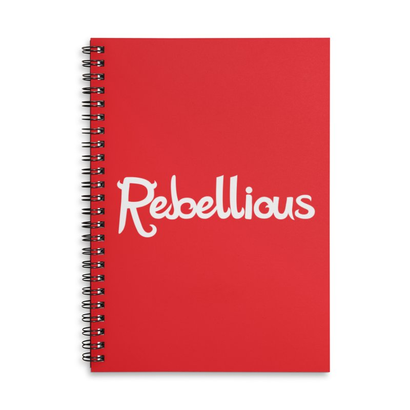 ____ & White Accessories Lined Spiral Notebook by Rebellious Magazine
