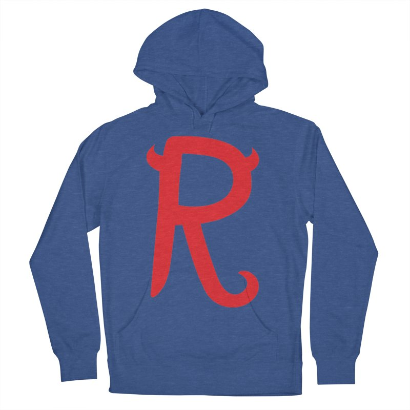 """Rebellious """"R"""" Women's French Terry Pullover Hoody by Rebellious Magazine"""