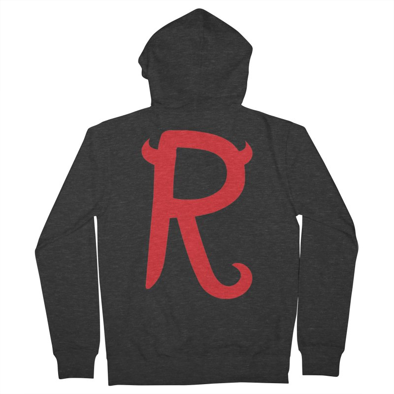 "Rebellious ""R"" Women's French Terry Zip-Up Hoody by Rebellious Magazine"
