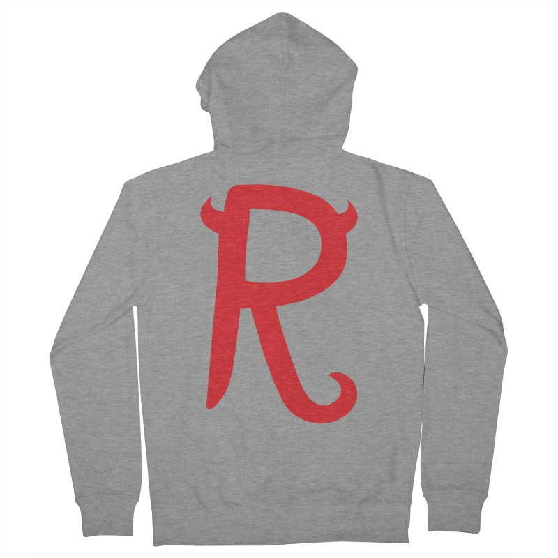 """Rebellious """"R"""" Women's French Terry Zip-Up Hoody by Rebellious Magazine"""