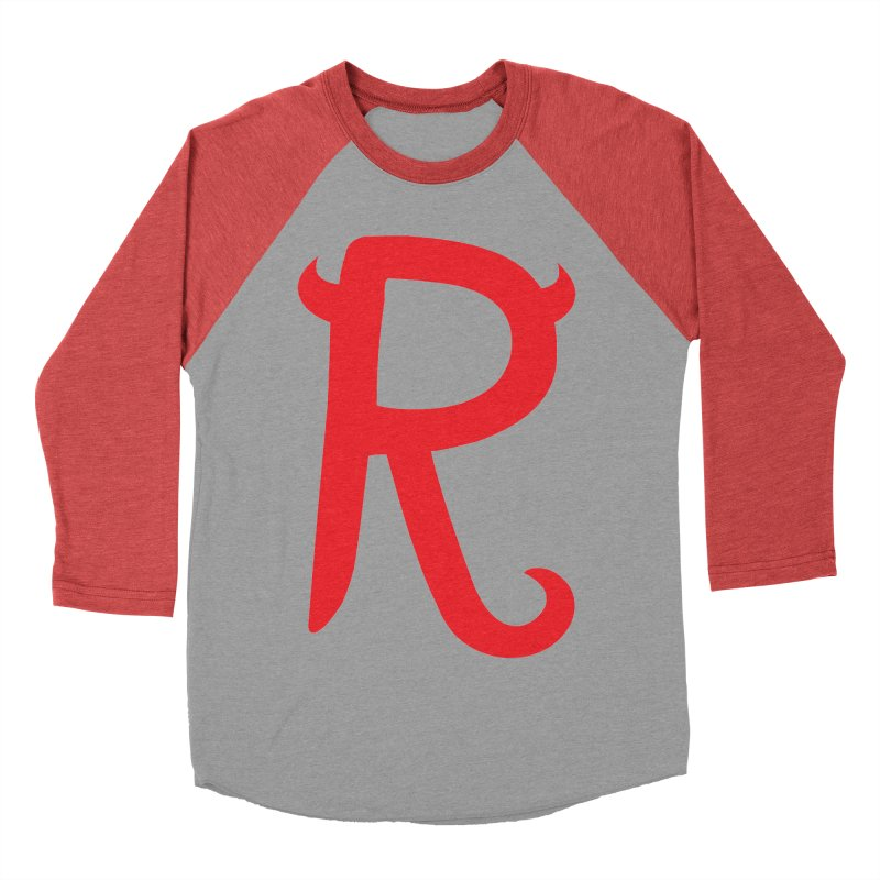"Rebellious ""R"" Women's Baseball Triblend Longsleeve T-Shirt by Rebellious Magazine"