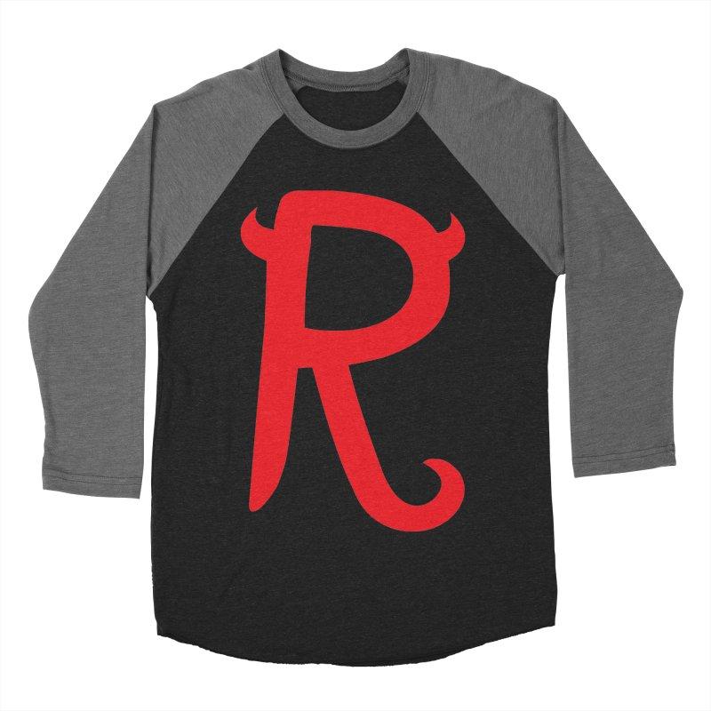 "Rebellious ""R"" Women's Baseball Triblend Longsleeve T-Shirt by Rebellious Magazine"