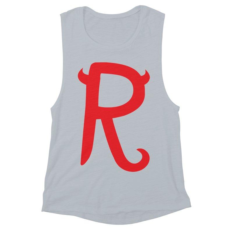 "Rebellious ""R"" Women's Muscle Tank by Rebellious Magazine"