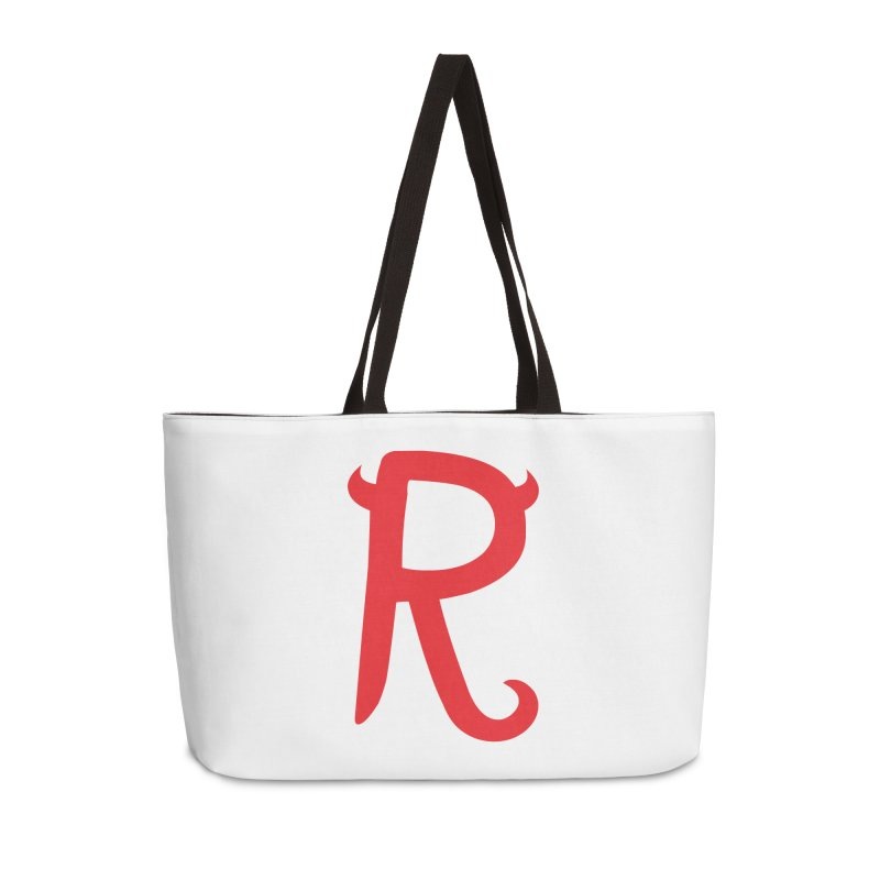 "Rebellious ""R"" Accessories Weekender Bag Bag by Rebellious Magazine"