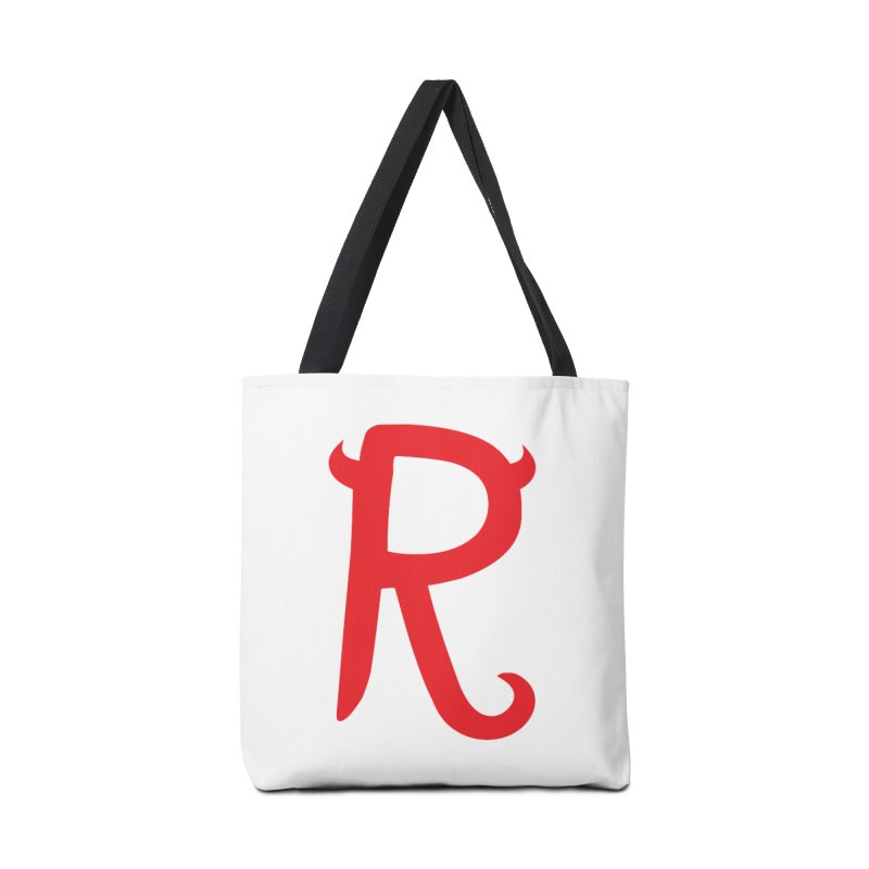 "Rebellious ""R"" Accessories Tote Bag Bag by Rebellious Magazine"