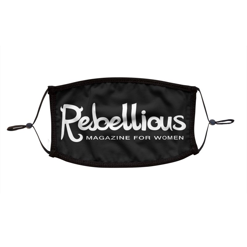 ____ and White Accessories Face Mask by Rebellious Magazine