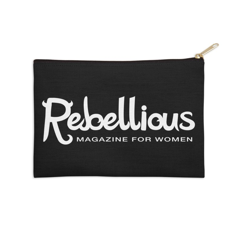____ and White Accessories Zip Pouch by Rebellious Magazine
