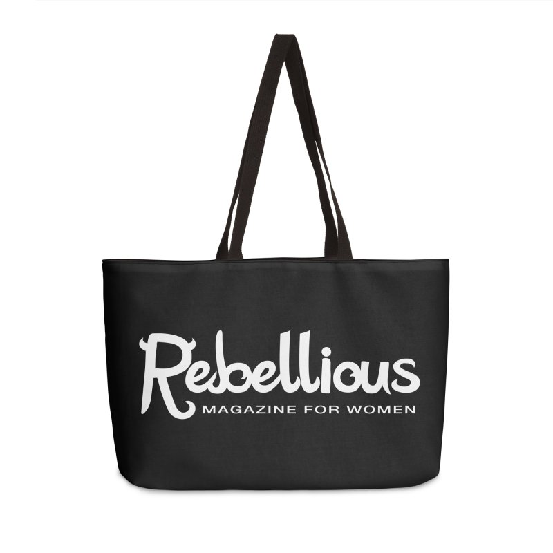 ____ and White Accessories Weekender Bag Bag by Rebellious Magazine