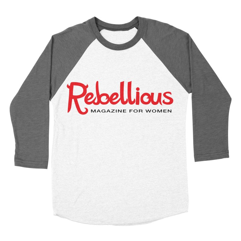 Rebellious Red Women's Baseball Triblend Longsleeve T-Shirt by Rebellious Magazine