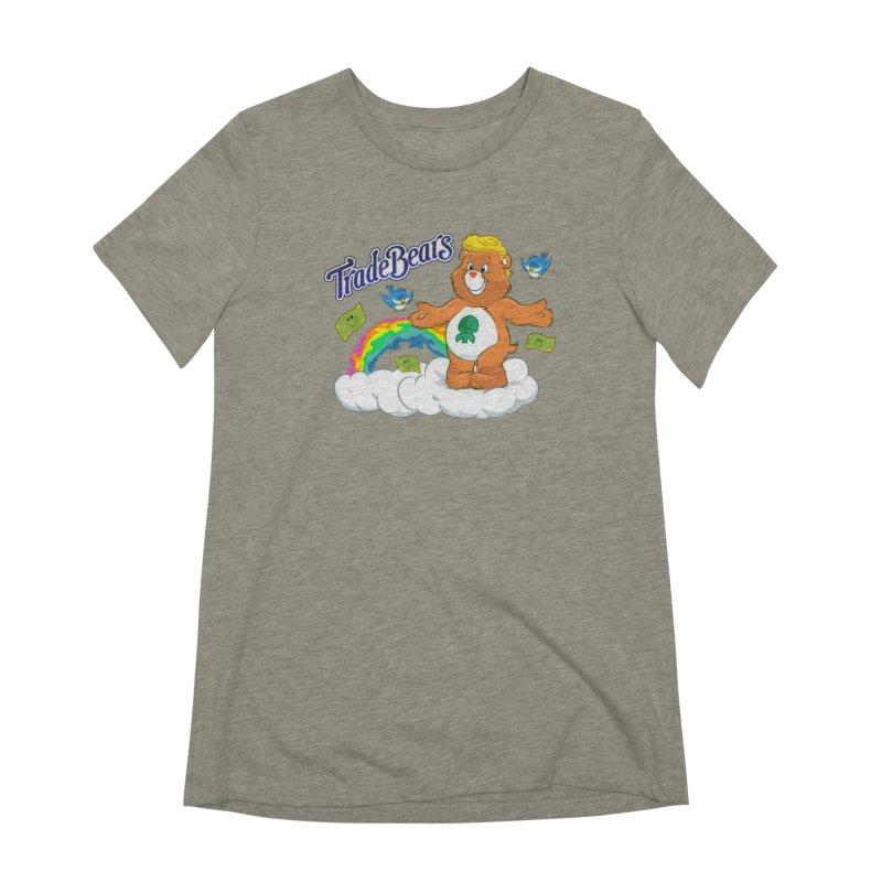 Trade Bears Women's Extra Soft T-Shirt by Rebel Mulata