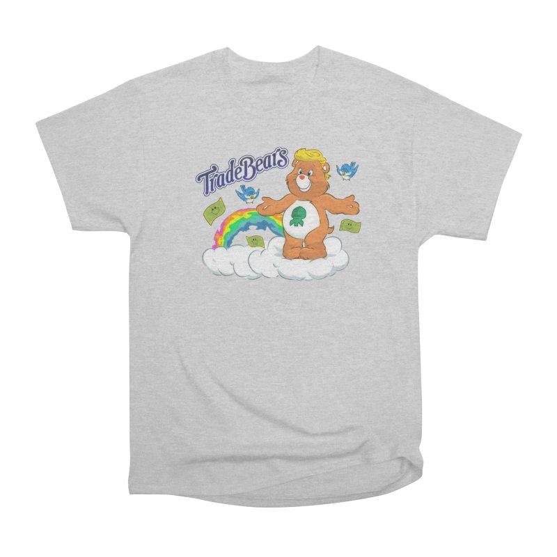 Trade Bears Men's Heavyweight T-Shirt by Rebel Mulata
