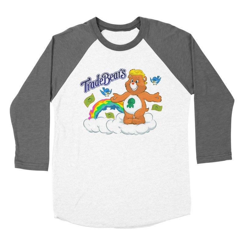 Trade Bears Men's Baseball Triblend Longsleeve T-Shirt by Rebel Mulata