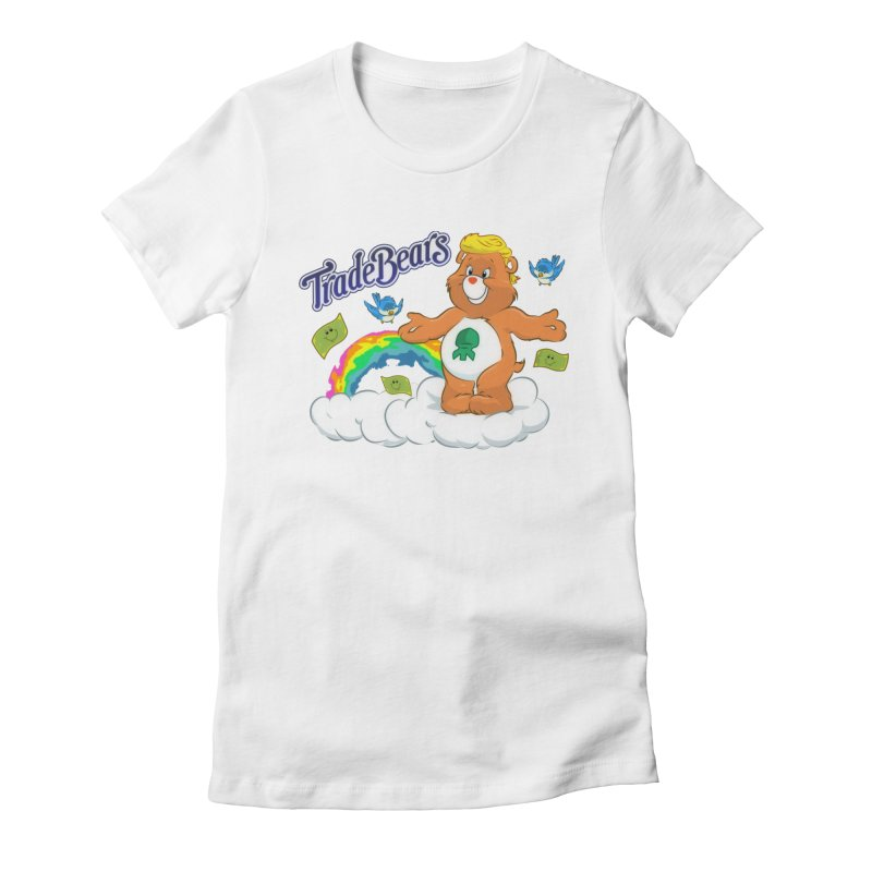 Trade Bears Women's Fitted T-Shirt by Rebel Mulata