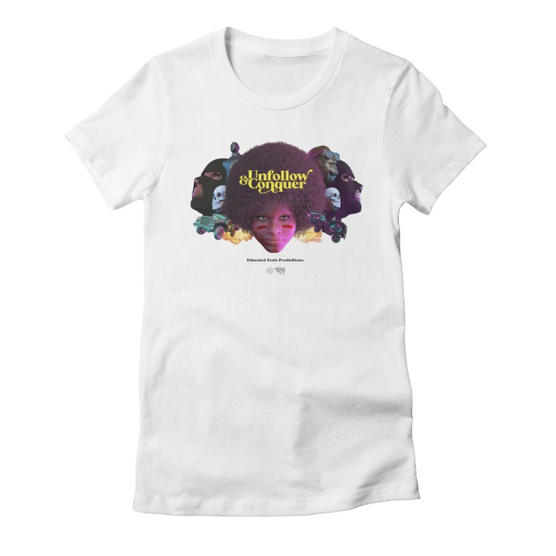 Midnight Premiere Women's Fitted T-Shirt by Rebel Mulata