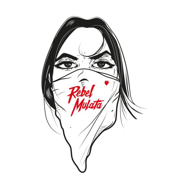 Woman Men's Longsleeve T-Shirt by Rebel Mulata