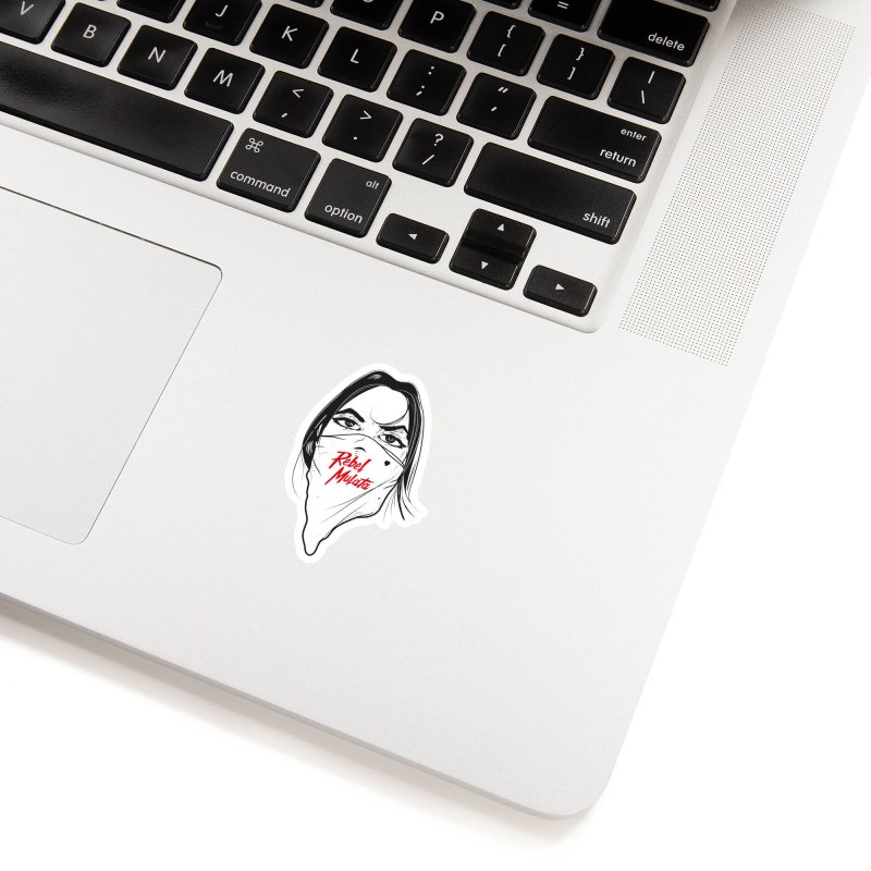 Woman in White Sticker by Rebel Mulata