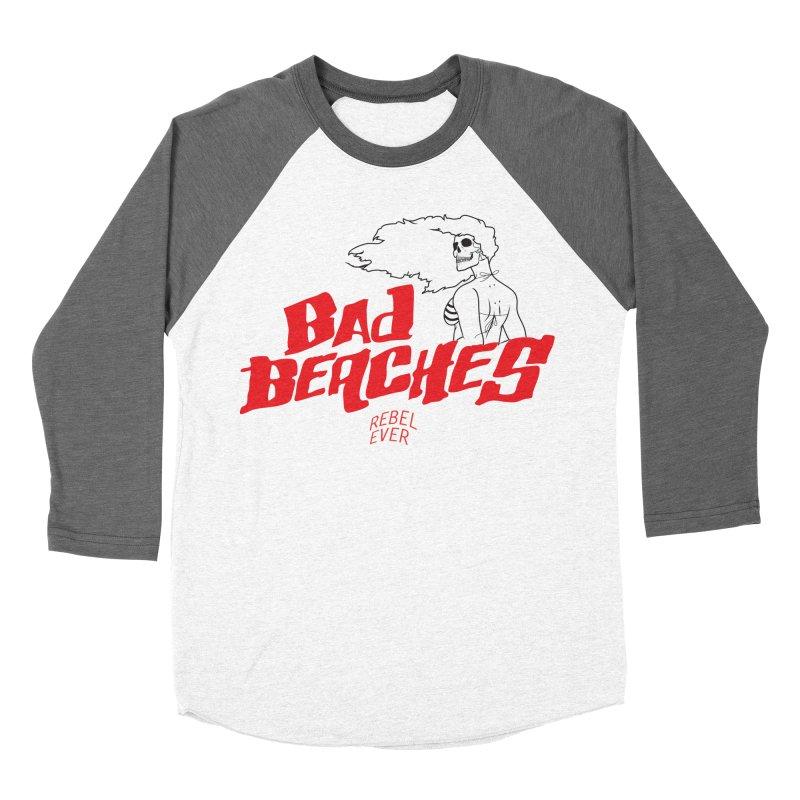 Bad Beaches II Men's Baseball Triblend Longsleeve T-Shirt by Rebel Mulata