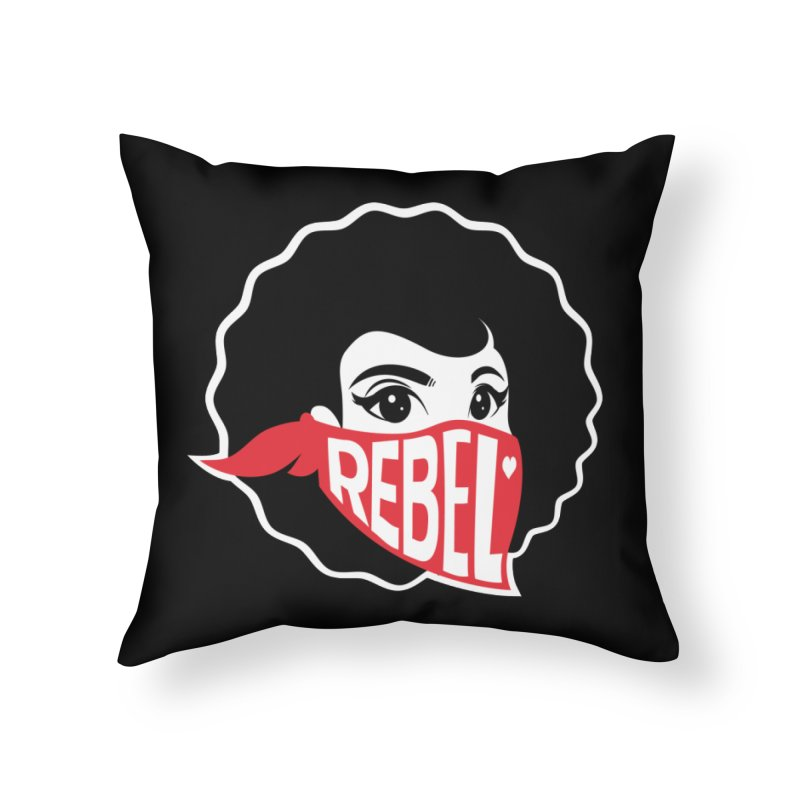 Bandana Home Throw Pillow by Rebel Mulata
