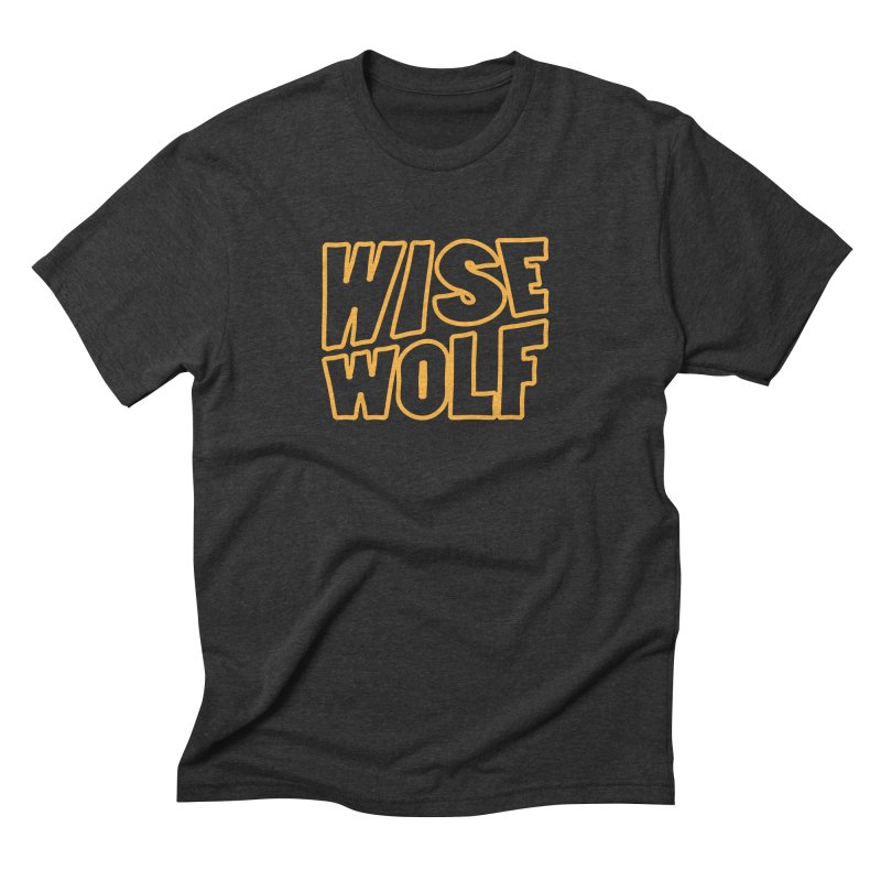 WISE Typo in Men's Triblend T-Shirt Heather Onyx by Rebel Mulata