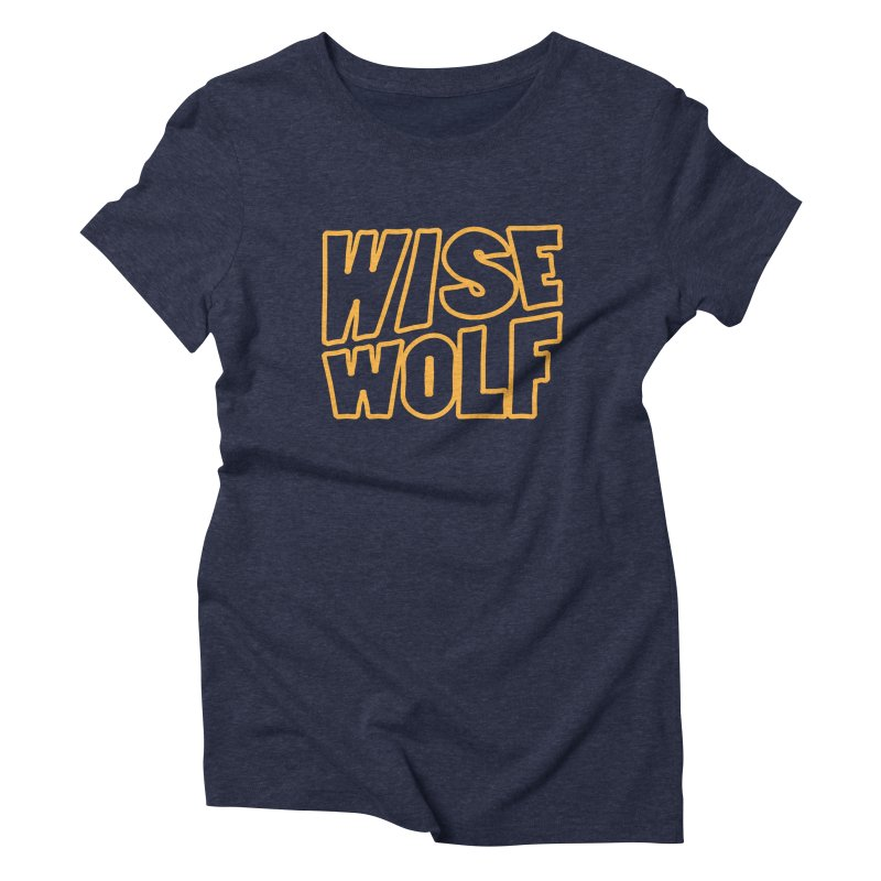 WISE Typo Women's Triblend T-Shirt by Rebel Mulata