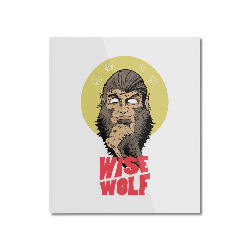 WISE Home Mounted Aluminum Print by Rebel Mulata