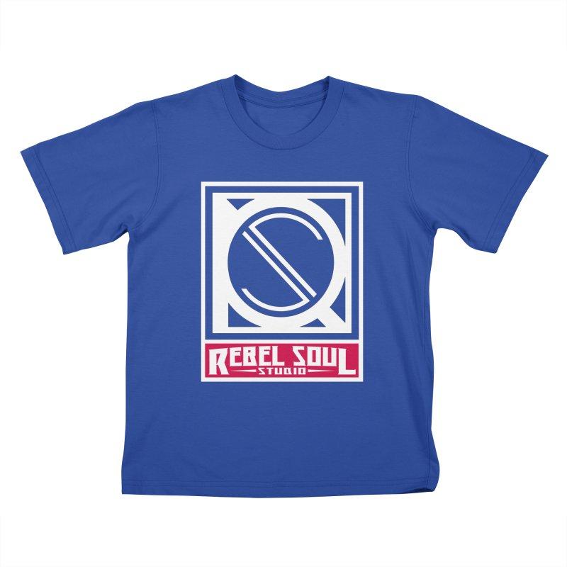 Rebel Soul Classic Logo  Kids T-Shirt by rebelsoulstudio's Artist Shop