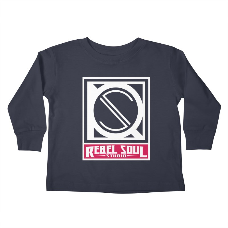 Rebel Soul Classic Logo  Kids Toddler Longsleeve T-Shirt by rebelsoulstudio's Artist Shop