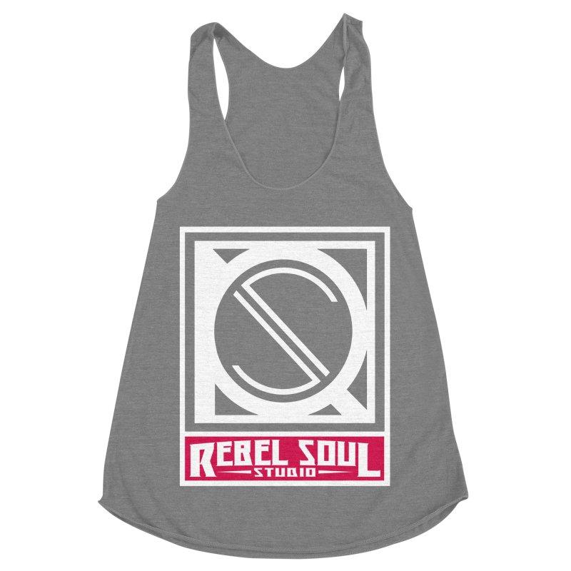 Rebel Soul Classic Logo  Women's Racerback Triblend Tank by rebelsoulstudio's Artist Shop