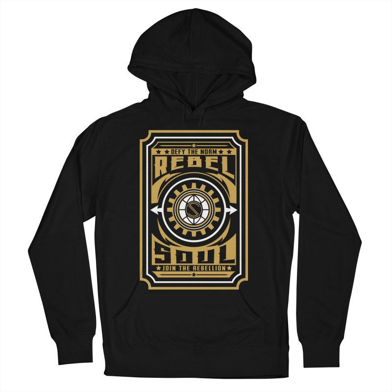 Defy the Norm - Gold and White Women's French Terry Pullover Hoody by rebelsoulstudio's Artist Shop